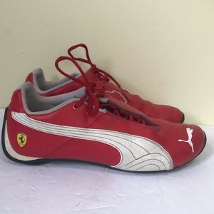 Puma x Ferrari RARE Leather Red Speedcat Shoes Sneakers Lace-Up Runners Unisex